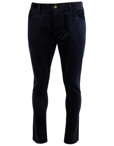 gabicci vintage retro 1960s mod cord trousers navy