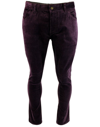 gabicci vintage retro mod cord trousers mulberry