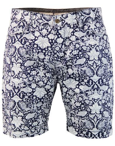 Drew GABICCI VINTAGE Fish Floral Summer Shorts