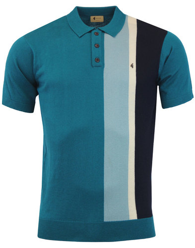 Marco GABICCI VINTAGE 60s Mod Stripe Knit Polo (L)