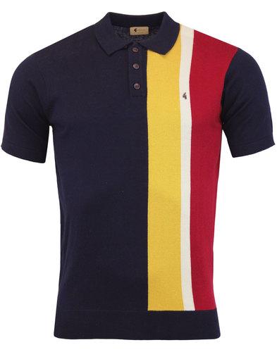 Marco GABICCI VINTAGE 60s Mod Stripe Knit Polo (N)