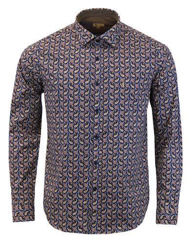 Ridley GABICCI VINTAGE Men's 60s Mod Paisley Shirt