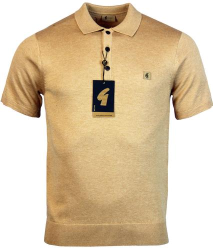 gabicci vintage retro 1960s mod knitted polo honey