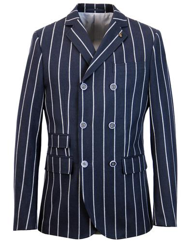 gabicci vintage mod double breasted stripe blazer