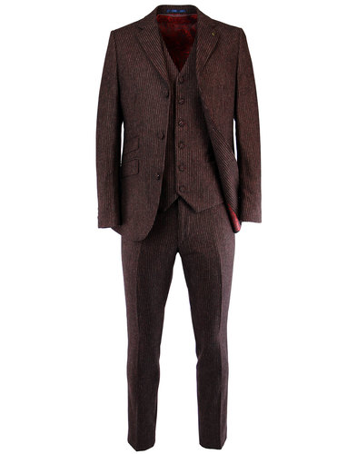 gabicci vintage 1960s mod pinstripe suit jacket