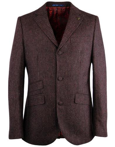 GABICCI VINATGE Mod 3 Button Pinstripe Suit Jacket