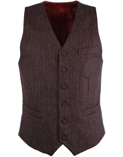 gabicci vintage 1960s mod wool pinstripe waistcoat