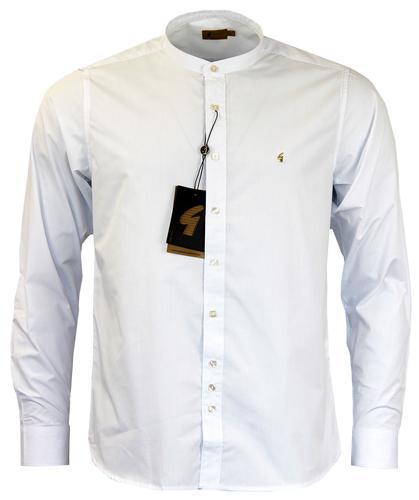 Retro mod formal shirts smart shirts mens tailored shirts Mens grandad collar shirt