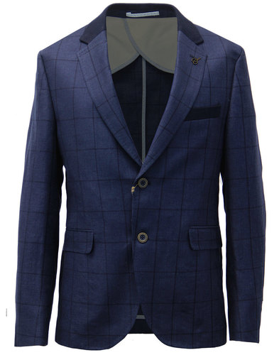 GIBSON LONDON RETRO MOD WINDOWPANE CHECK BLAZER