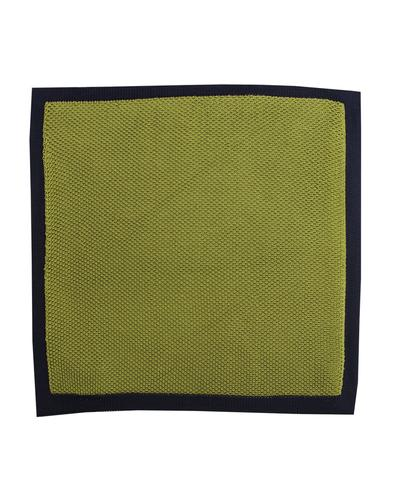 GIBSON LONDON 60s Mod Knitted Pocket Square GREEN