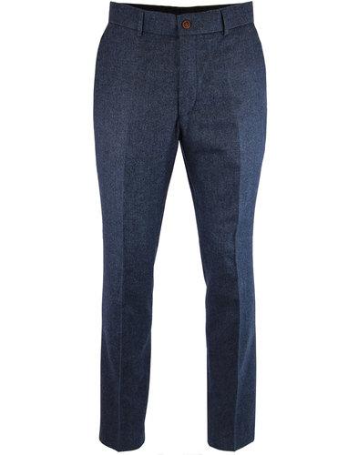GIBSON LONDON Retro Mod Herringbone Suit Trousers