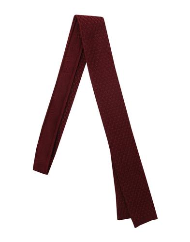 GIBSON LONDON 60s Mod Square End Knit Tie BURGUNDY