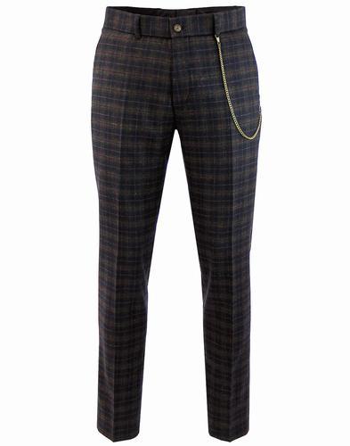 Towergate GIBSON LONDON Mod Tartan Suit Trousers