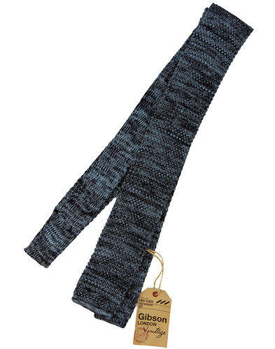 gibson london retro mod square end marl tie blue