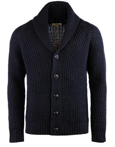 gibson london 60s mod chunky shawl collar cardigan