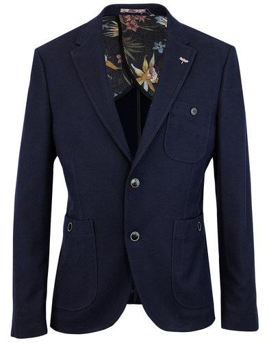 gibson london retro mod waffle knit blazer jacket