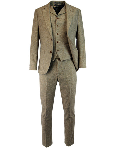 gibson london 1960s mod donegal suit jacket sand