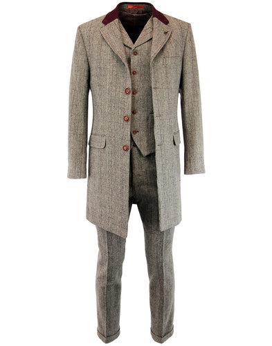 gibson london retro 1960s mod pow check dress coat