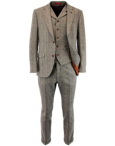 gibson london retro 60s mod pow check suit jacket