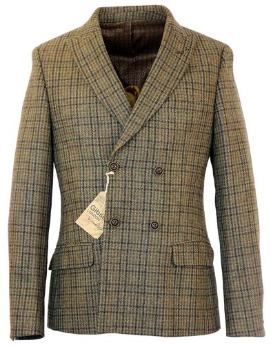 GIBSON LONDON RETRO DOUBLE BREASTED TWEED BLAZER
