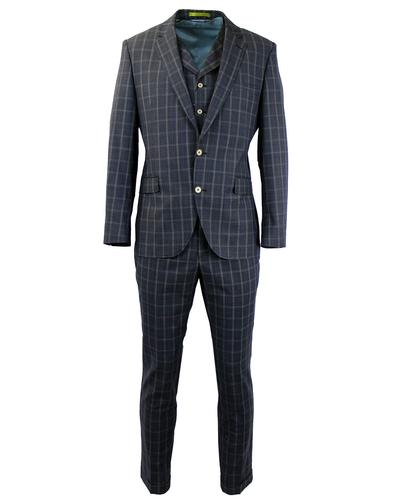 GIBSON LONDON RETRO CHECK 3 PIECE SUIT