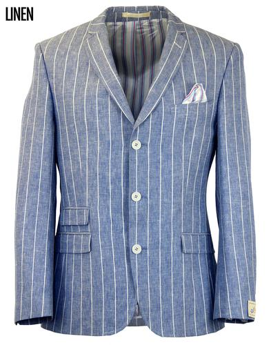 SCOTT RETRO MOD 3 BUTTON LINEN BLAZER