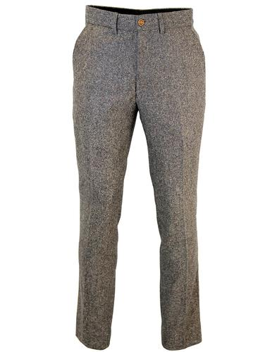 GIBSON LONDON RETRO MOD DONEGAL TWEED SUIT TROUSER