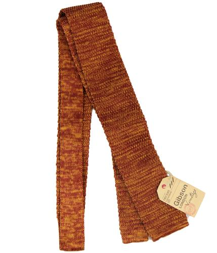 GIBSON LONDON RETRO MOD KNITTED TIE RUST