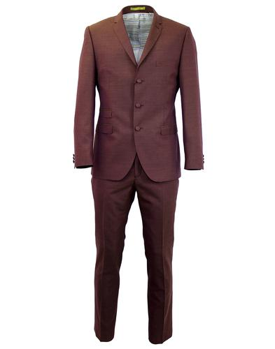 GIBSON LONDON RETRO MOD TONIC SUIT PLUM