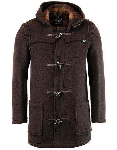 GLOVERALL Retro Checkback Mid Length Duffle Coat