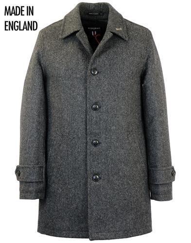 GLOVERALL RETRO 60s MOD DONEGAL TWEED CAR COAT