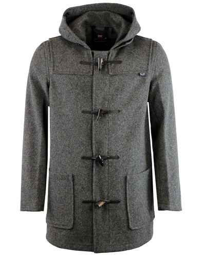 gloverall mc3251 retro mid length duffle coat grey