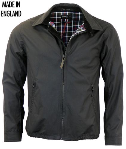 GLOVERALL RETRO MOD RACER BOMBER JACKET BLACK