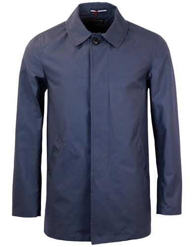 gloverall retro mod summer weight car coat navy