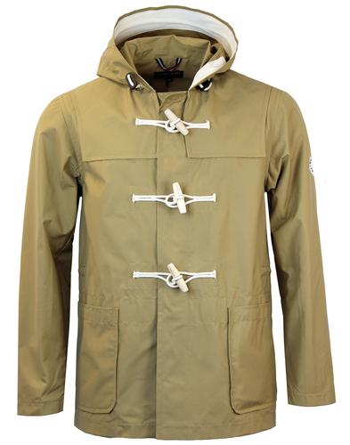gloverall retro 1960s mod summer duffle coat khaki