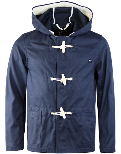 Gloverall summer monty duffle coat navy