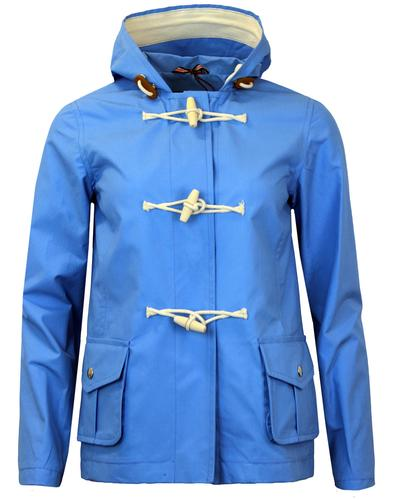 gloverall womens 60s retro summer duffle coat blue