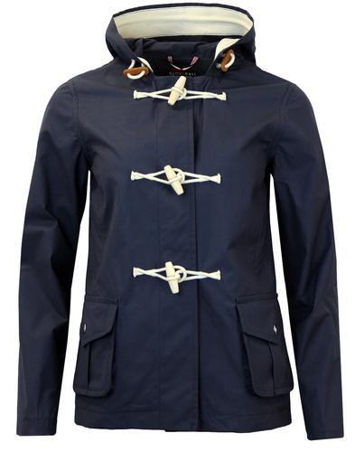 gloverall womens 60s retro summer duffle coat navy