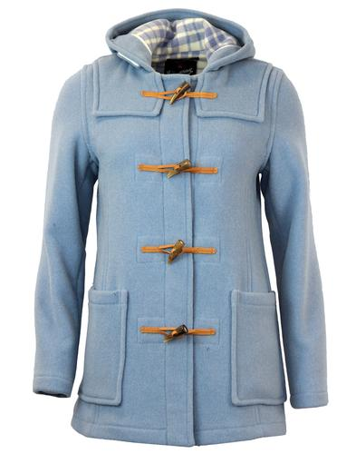 GLOVERALL 432FC WOMENS RETRO SLIM DUFFLE COAT BLUE