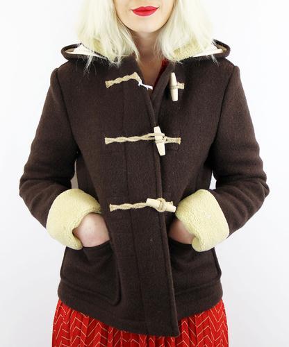 GLOVERALL WOMENS RETRO 70s DUFFLE COAT PADDINGTON