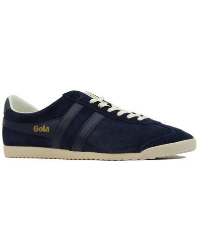 gola bullet mens retro 1970s suede trainers navy