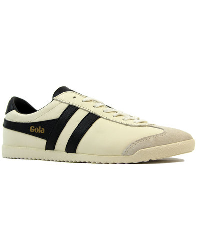 gola bullet retro 1970s leather trainers off white