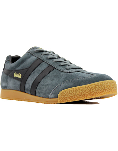 GOLA Harrier Retro Suede 70s Trainer GRAPHITE