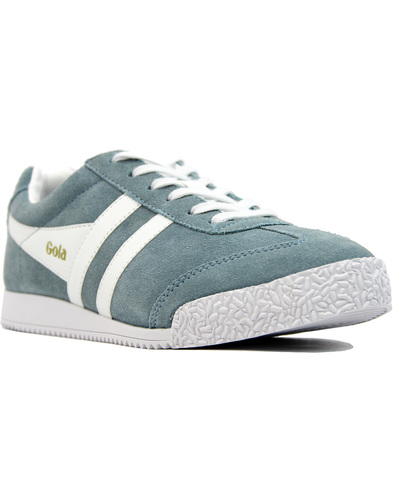 gola harrier womens suede trainers Sky Blue/white