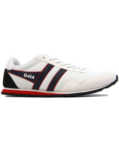 Monaco GOLA Classics Mens Retro 80s Trainers WHITE