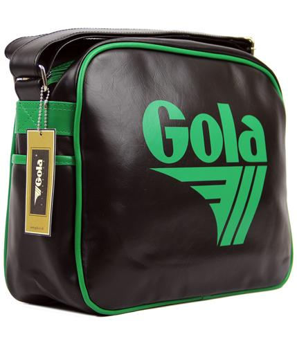 GOLA CLASSICS RETRO MESSENGER BAG BLACK