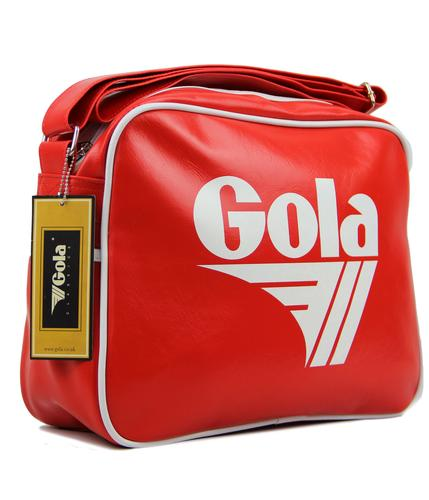 GOLA CLASSICS RETRO MESSENGER BAG RED