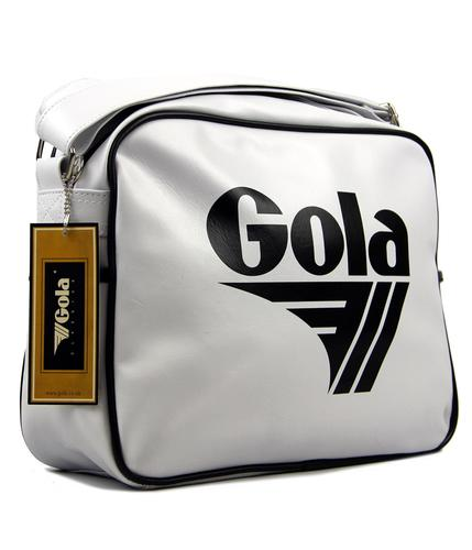 GOLA CLASSICS RETRO MESSENGER BAG WHITE