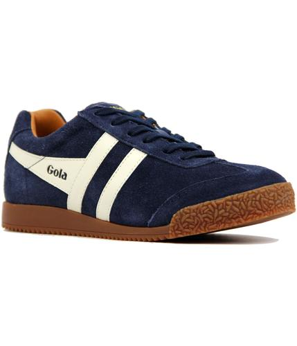GOLA CLASSICS RETRO 60s 70s HARRIER TRAINERS NAVY
