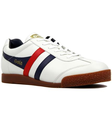 GOLA CLASSICS RETRO 60s 70s HARRIER TRAINERS WHITE